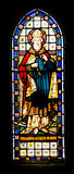 Stained glass window of St Kilda Royalty Free Stock Images