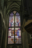 Stained glass window of St. Martins Cathedral in Utrecht, the Ne Royalty Free Stock Photos