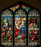 Stained Glass Window of St Paul's Episcopal Church Royalty Free Stock Images