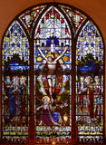 Stained Glass Window of St Paul's Episcopal Church Stock Images