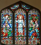 Stained Glass Window of St Paul's Episcopal Church Royalty Free Stock Photography