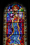 Stained Glass Window in St. St royalty free stock photos