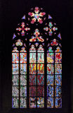 Stained-glass window in St Vit Cathedral Royalty Free Stock Image