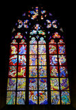Stained glass window of St. Vitus Cathedral, Royalty Free Stock Image