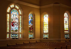 Stained Glass Window. Steam glass window in a Baptist Church royalty free stock image