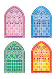 Stained glass window stencils Royalty Free Stock Images
