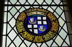 Stained Glass Window at Stirling Castle Stock Image