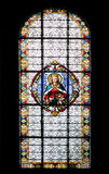 Stained-glass window in Subotica cathedral Stock Photos