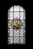 Stained-glass window in Subotica cathedral Stock Photography