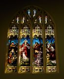 Stained glass window. With sunlight Royalty Free Stock Photos