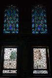 Stained-glass window in Topkapi palace in Istanbul Stock Photo