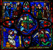 Stained glass window in Tours Royalty Free Stock Image