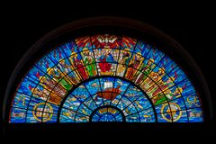 Stained glass window The twelve apostles royalty free stock images