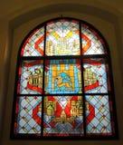 Stained glass window, Ukraine stock photos