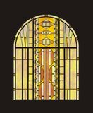 Stained glass window in vector Stock Images