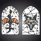 Stained glass window vector Royalty Free Stock Photo