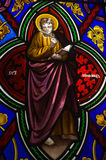 Stained Glass Window. View of a stained glass window inside a church Royalty Free Stock Images