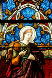 Stained glass window of Vigny church. In Val d Oise Stock Images