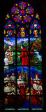 The stained glass window Stock Images