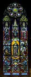 The stained glass window Royalty Free Stock Images