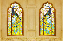 Stained glass window. On wall Royalty Free Stock Photos
