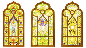 Stained glass window royalty free illustration