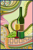 Stained-glass window Wine Royalty Free Stock Images