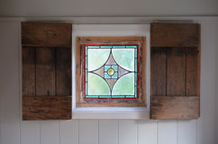 Stained glass window. Stock Photo