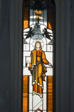 Stained glass window. Yaroslavl. Russia Stock Photo