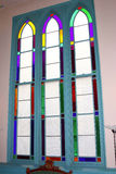 Stained glass windows. Royalty Free Stock Photo