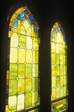 Stained Glass Windows. On a church, Kauai, Hawaii royalty free stock photo