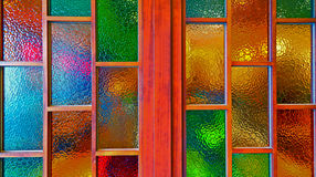 Stained glass windows. Background of stained glass window Stock Photo