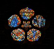Stained Glass Windows At Galway Cathedral Ireland Stock Photo