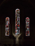 Stained glass windows of the Basilica of Sacre Coeur Stock Photos