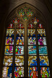 Stained glass windows of Basilica of Saint Servatius Royalty Free Stock Photo