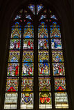 Stained glass windows of Basilica of Saint Servatius Stock Image