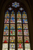 Stained glass windows of Basilica of Saint Servatius Royalty Free Stock Images