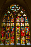 Stained glass windows of Basilica of Saint Servatius Stock Photos