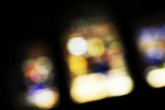Stained glass windows, blurred Stock Photos
