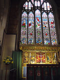 Stained Glass windows in Burnley Lancashire. Beautiful Victorian Stained Glass Windows in St Peters Parish Church in Burnley Lancashire England Royalty Free Stock Photography