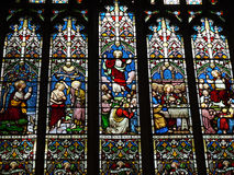 Stained Glass windows in Burnley Lancashire Stock Photos