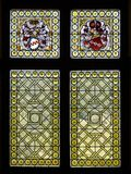 Stained glass windows in castle de Rijkburcht in Cochem, Mosel region, Germany. Stock Photography