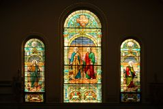 Stained glass windows. Stock Photos