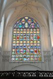 Stained glass windows. At Cathedral of our lady, Antwerp, Belgium Stock Images