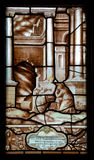 Stained glass windows Stock Image