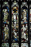 Stained glass windows in church Royalty Free Stock Image