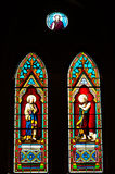 Stained glass windows in the church. Stock Image