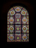 Stained glass windows of church Stock Photography
