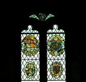 Stained Glass Windows With Coats Of Arms Royalty Free Stock Image
