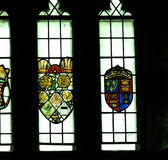 Stained Glass Windows With Coats Of Arms Royalty Free Stock Images